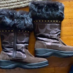 Authentic Coach snow boots